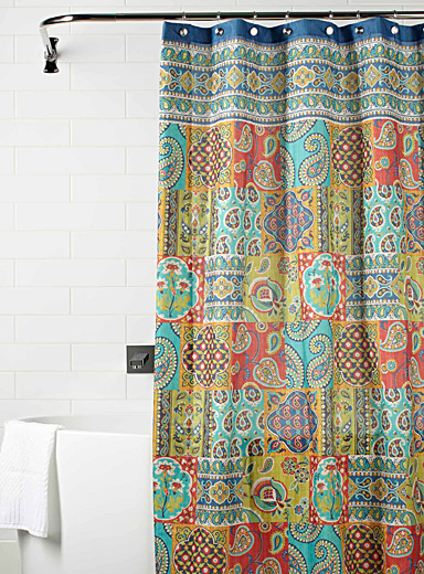 Paisley mosaic shower curtain | Simons Maison | Shop Fabric Shower ...