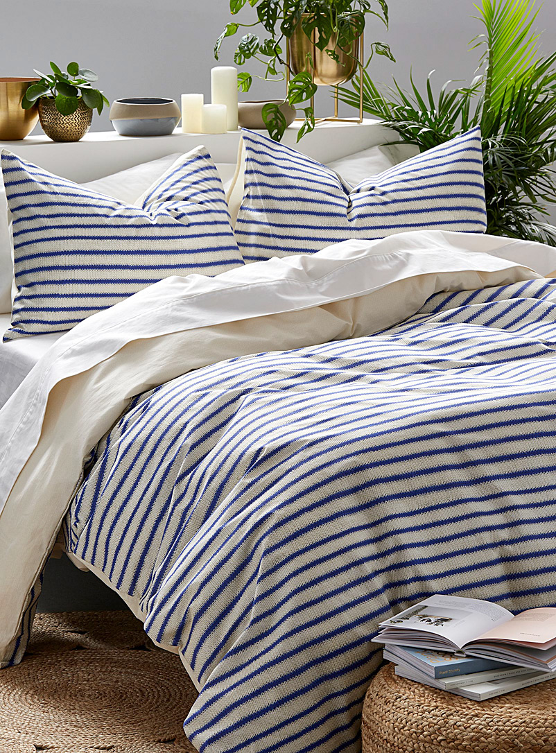 Snurk Blue Knit print duvet cover set