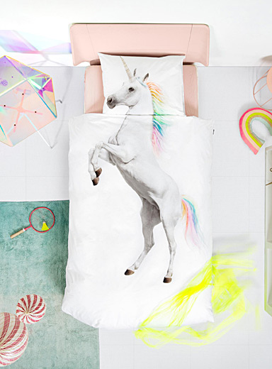 Dreamy unicorn duvet cover set