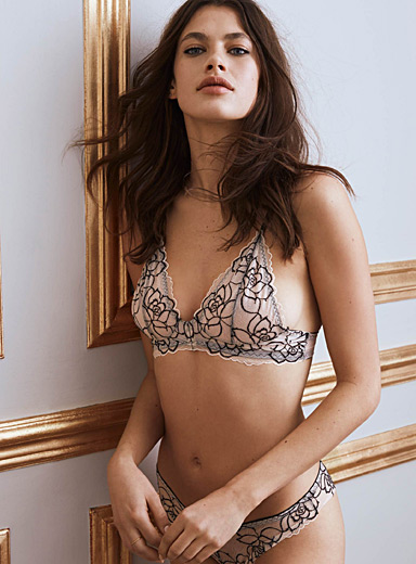 Salome rose bralette