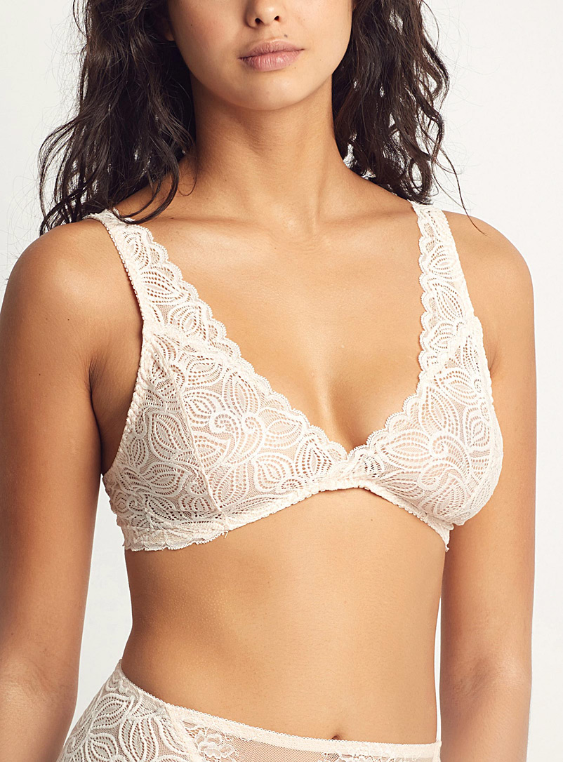 Sokoloff Cream Beige Champagne Papi bralette for women