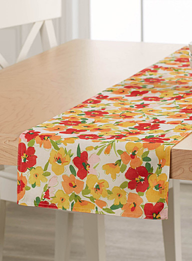 Spring bouquet table runner  13&quote; x 72&quote;