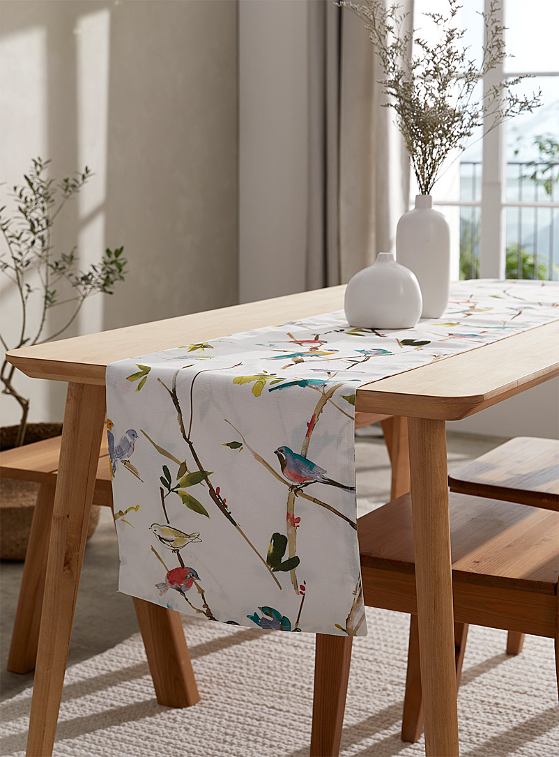 Simons Maison: Le chemin de table oiseaux du printemps 41 x 183 cm Assorti