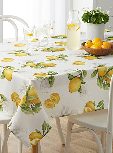 Lemon zest tablecloth