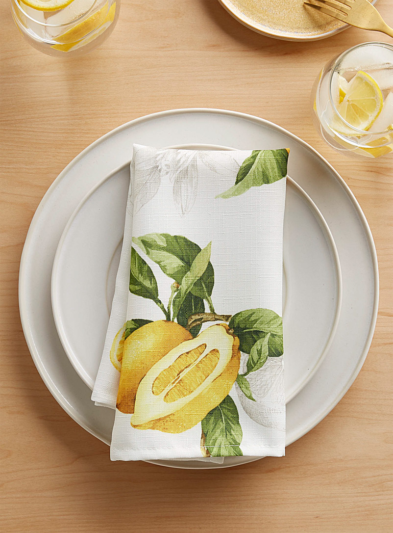 Simons Maison Assorted Lemon zest napkin