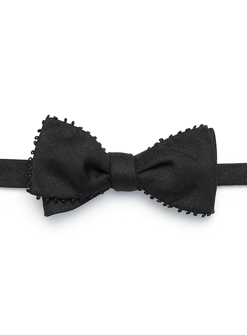 Dark ring trim bow tie - Bow Ties - Assorted