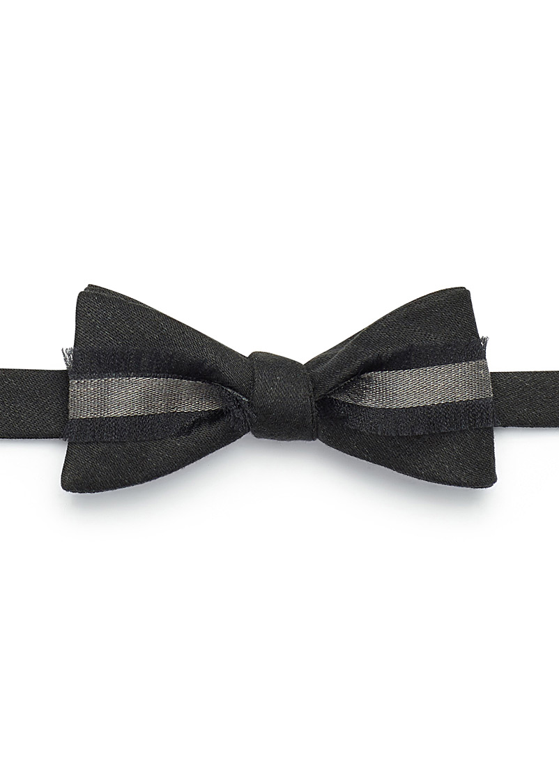 Dark ribbon bow tie - Bow Ties - Grey
