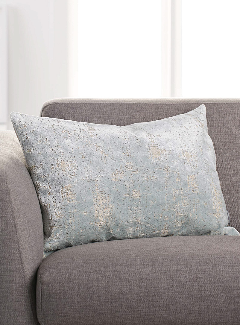 Simons Maison Teal Antique velvet cushion  40 x 60 cm
