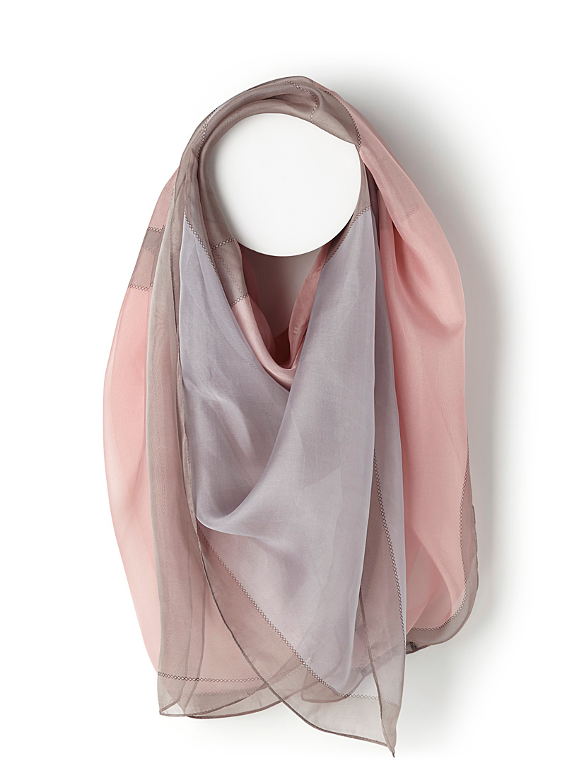 Sheer block scarf - Light scarves - Patterned Red
