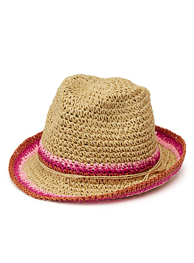Colourful knit Panama hat