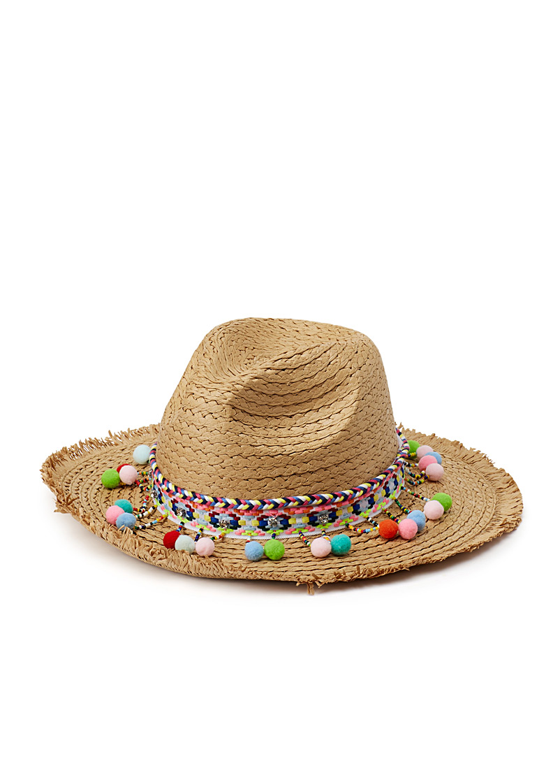 Festive Panama hat - Hats - Cream Beige