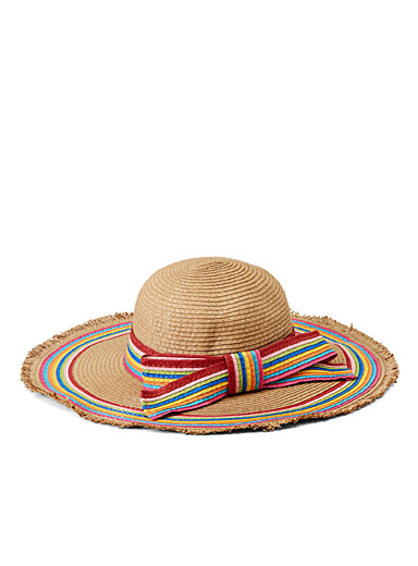 Multicoloured mega bow floppy hat