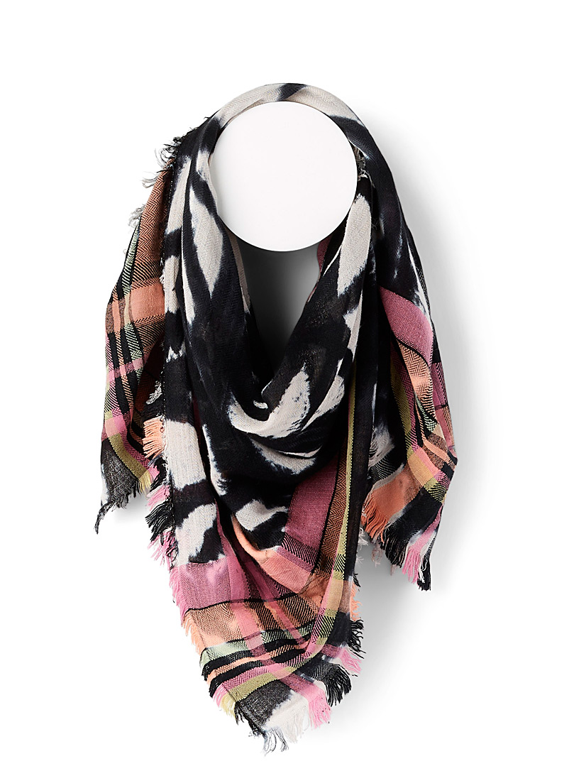 Steve Madden Assorted Tie-dye check scarf for women