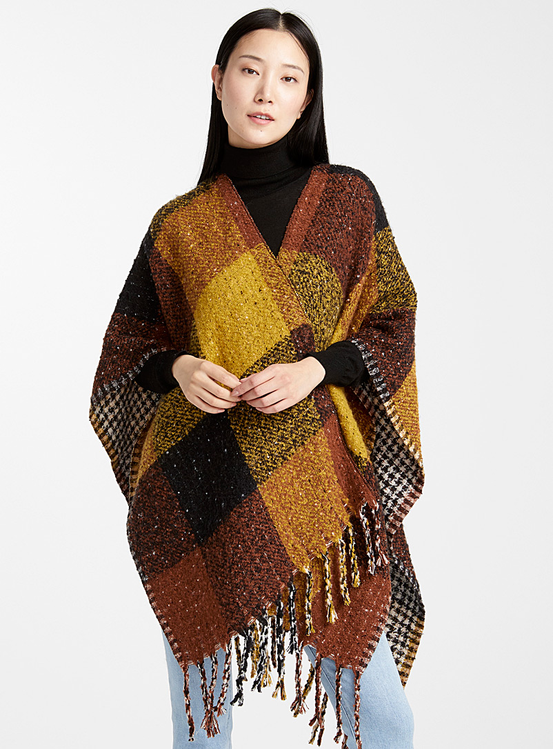 Amber spice shawl - Capes & Ponchos - Patterned Yellow