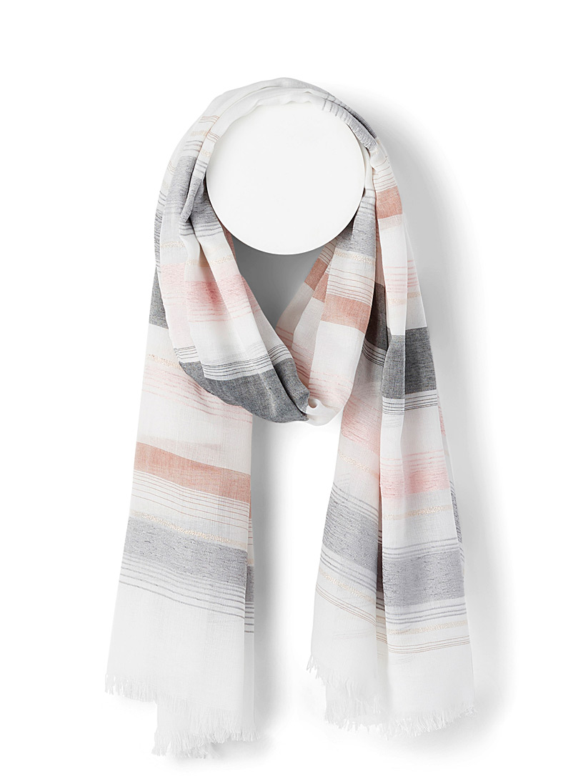 Simons Assorted Colourful stripe scarf for women
