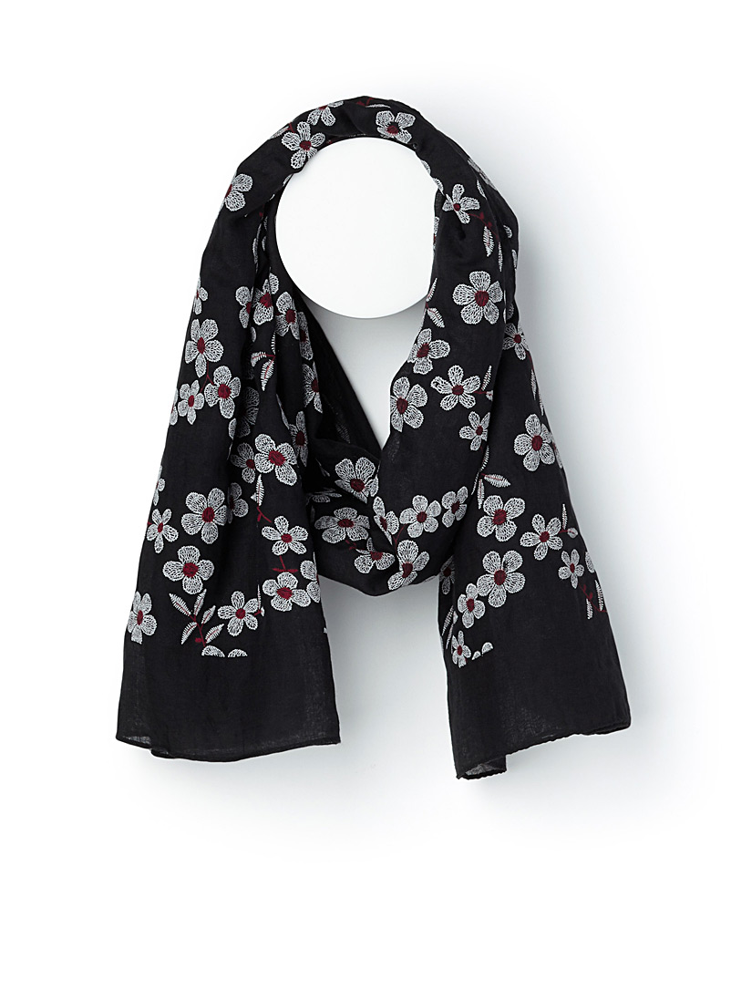 Oriental spring scarf - Light scarves - Black