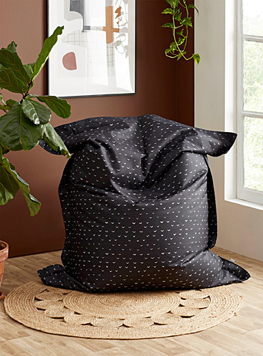 Citta Design Patterned Black Small bird indoor-outdoor bean bag cover
