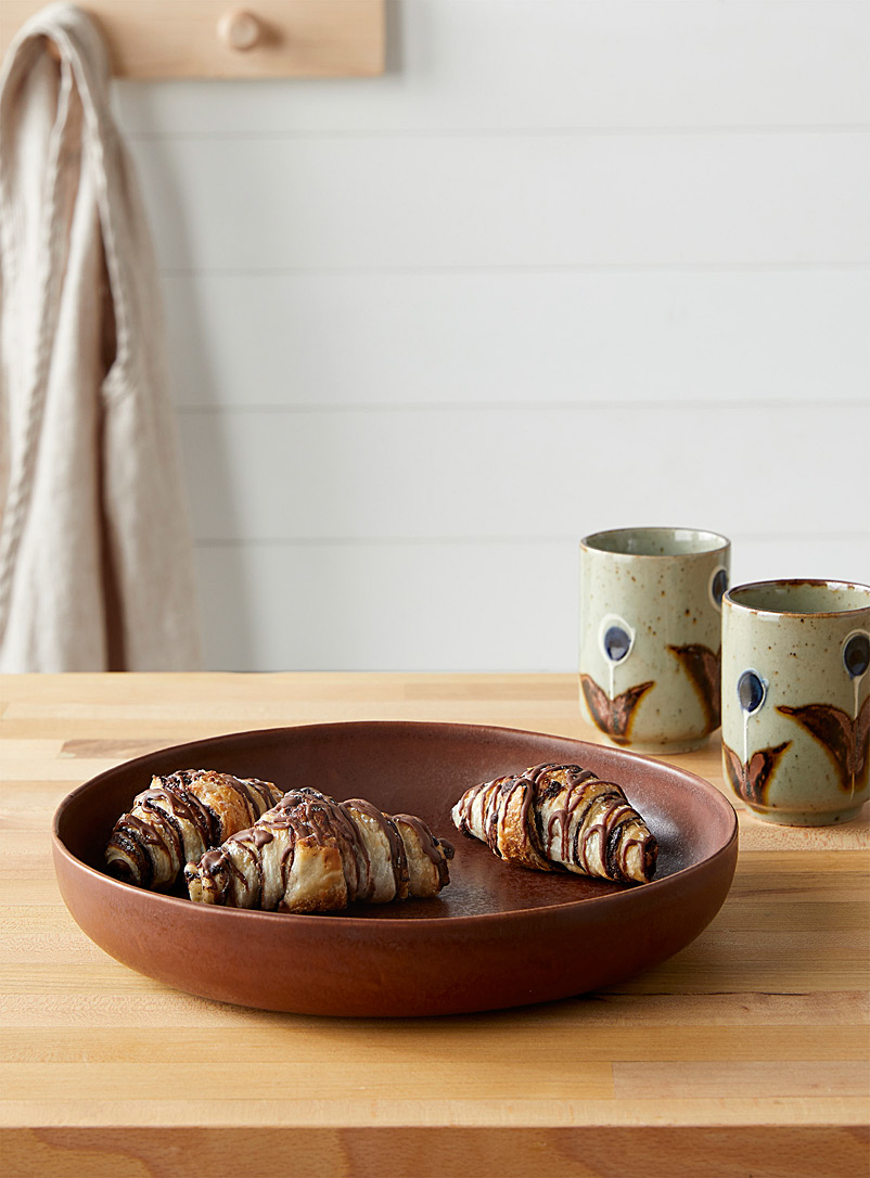 Citta Design Brown Stoneware artisanal dinner bowl