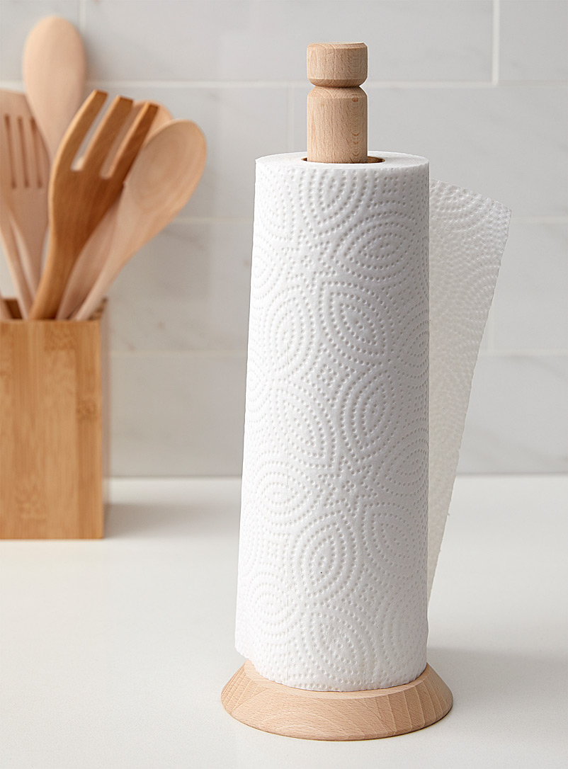 Citta Design Assorted Natural wood paper towel holder