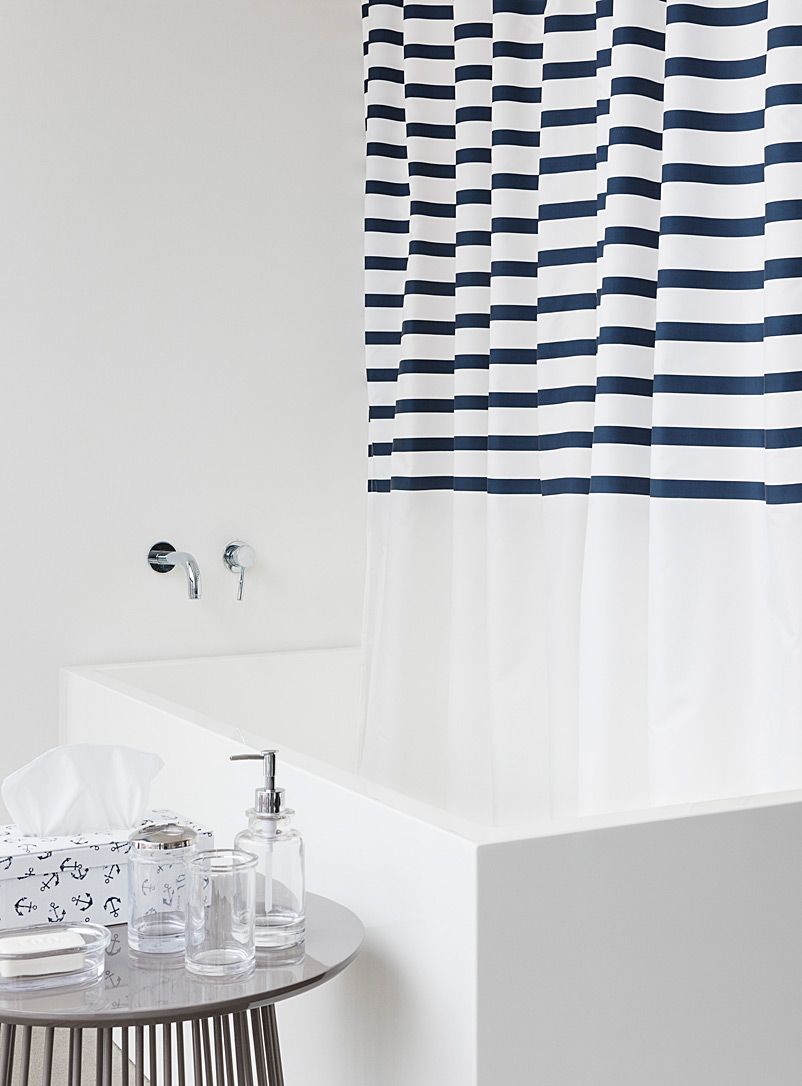 Key West stripe shower curtain - Eco-friendly Peva - Assorted