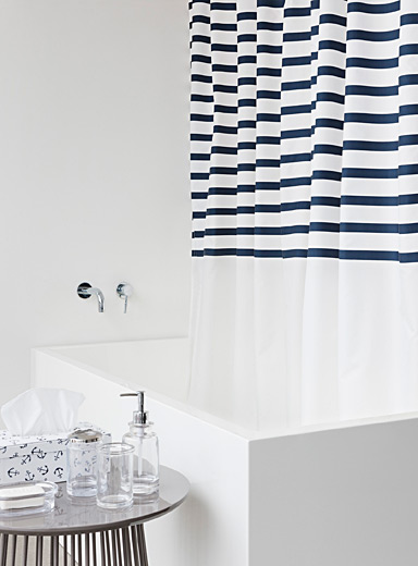 Key West stripe shower curtain