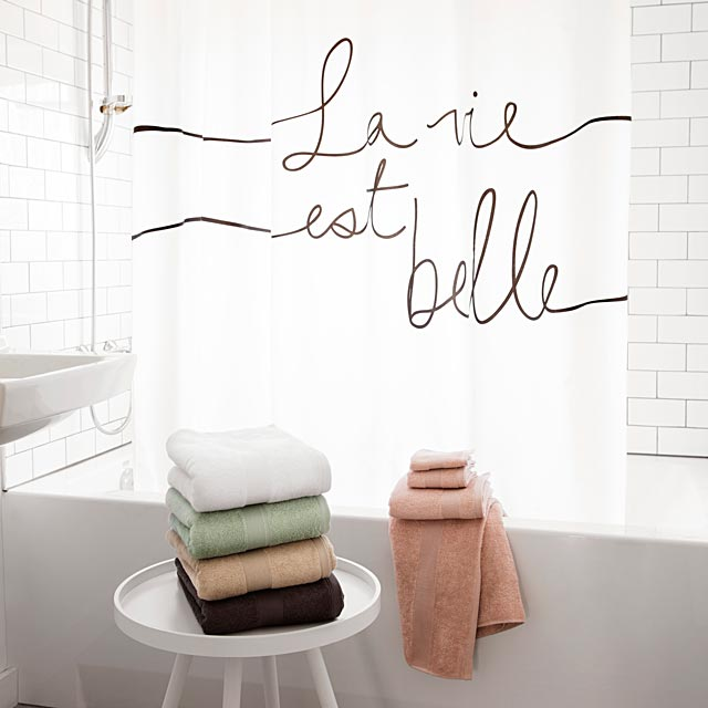 la-vie-est-belle-shower-curtain