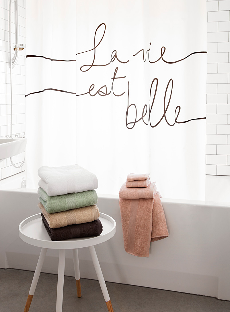 La vie est belle shower curtain - Fabric - Assorted