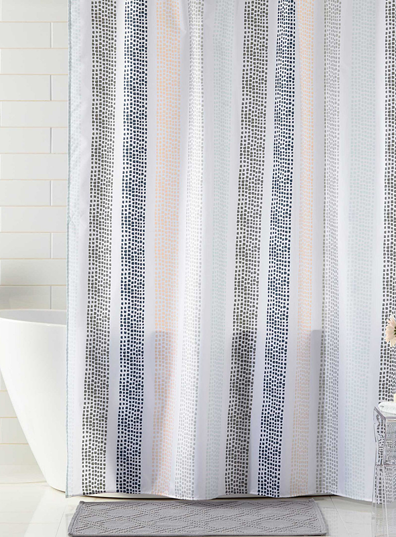 Noah's lines shower curtain - Fabric - Assorted