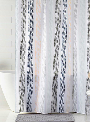 Noah's lines shower curtain