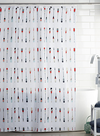 Paddles shower curtain