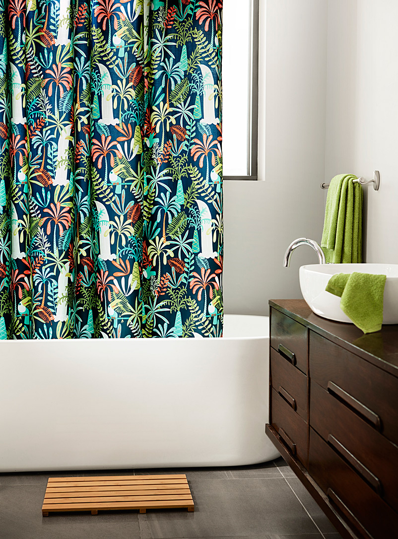 Simons Maison Marine Blue Parrot island shower curtain