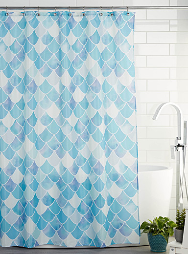 Pearly scale shower curtain