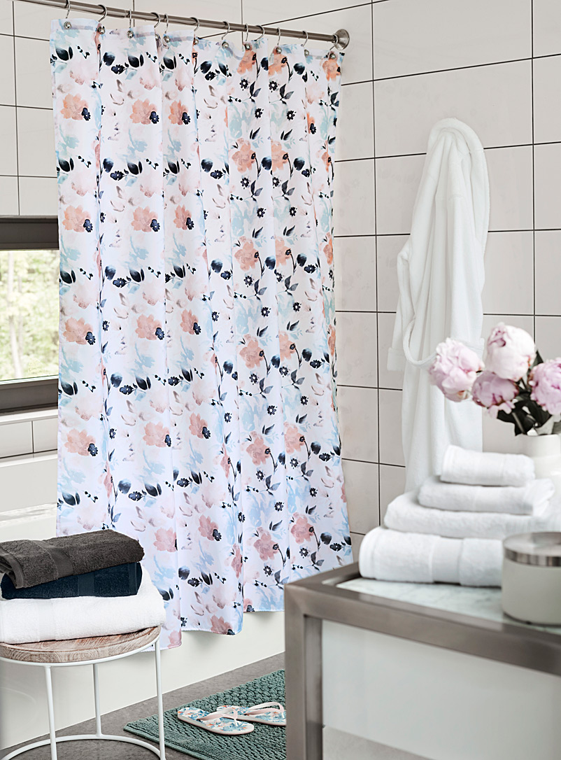 Simons Maison Assorted Floral poetry shower curtain