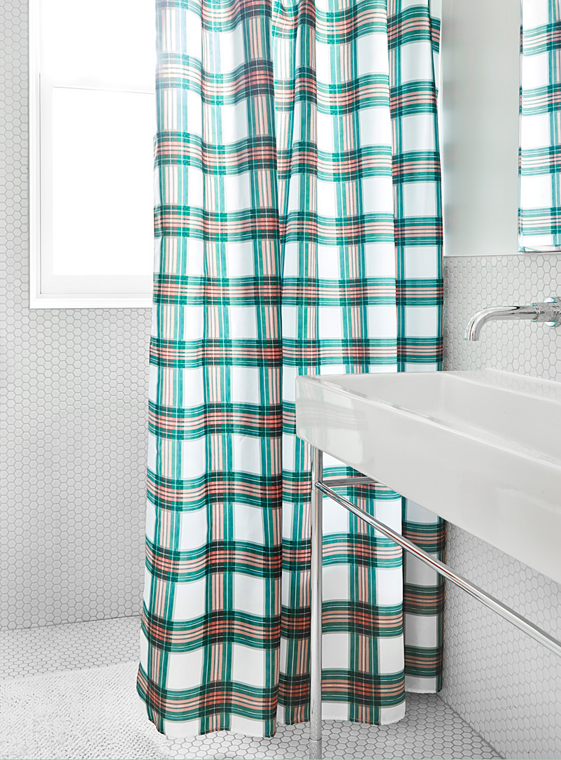 terracotta-check-shower-curtain