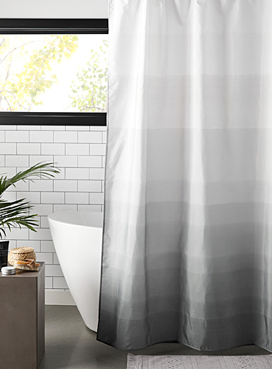 Mineral ombré shower curtain