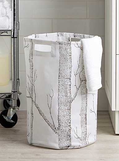 Nordic forest laundry hamper