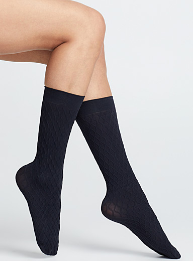 MeMoi Marine Blue Navy knee-highs  Set of 3 for women