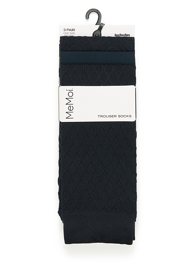 Navy knee-highs  Set of 3 - Knee-Highs - Marine Blue