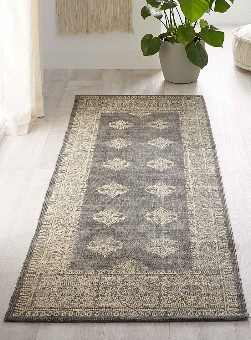 Simons Maison Light Grey Printed Persian rug  75 x 215 cm