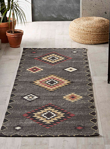 Accent-pink kilim rug  75 x 215 cm