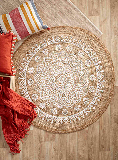 Introspection jute rug 120 cm in diameter