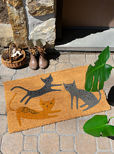 Simons Maison Patterned Ecru Kitten trio door mat  40 x 70 cm