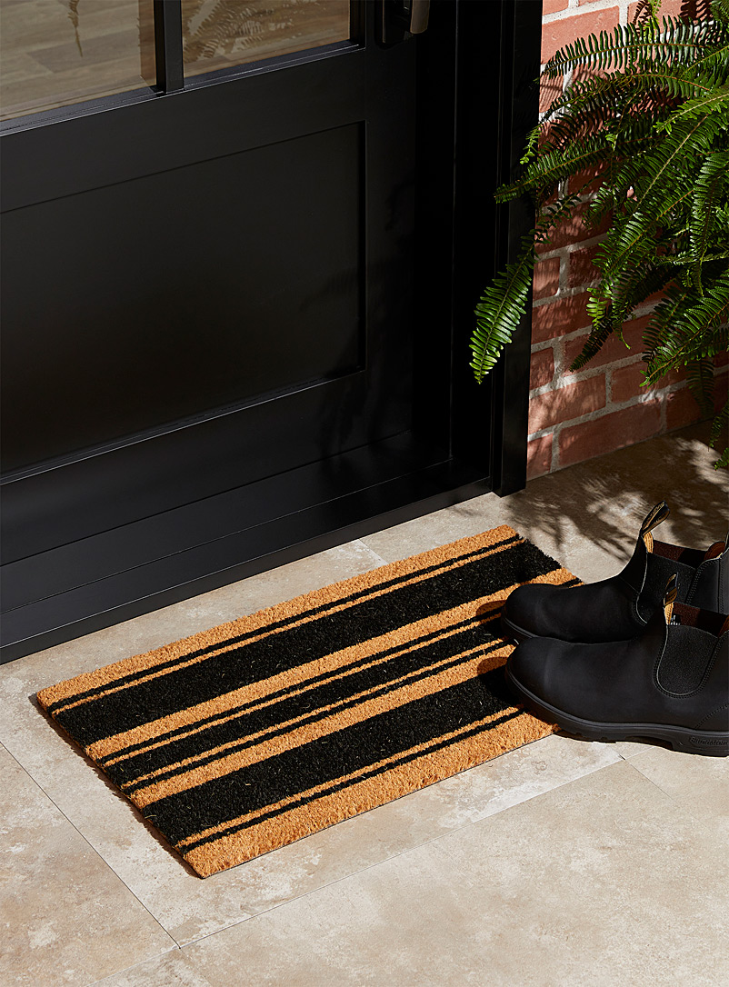 Simons Maison Patterned Black Classic stripe doormat 40 x 70 cm