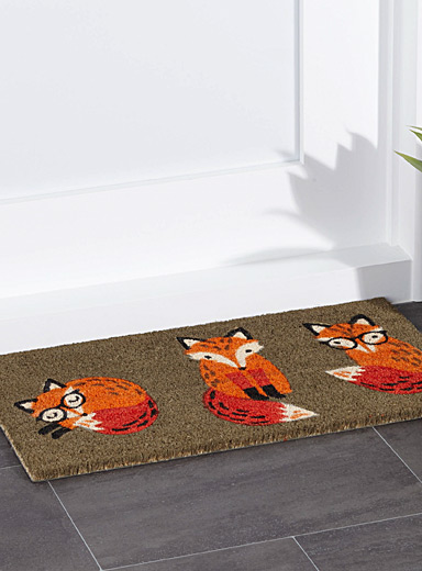 Smart fox door mat  40 x 70 cm