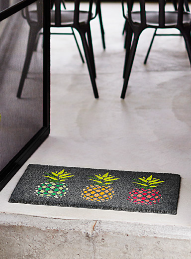Simons Maison Assorted Pineapple cocktail door mat  40 x 70 cm