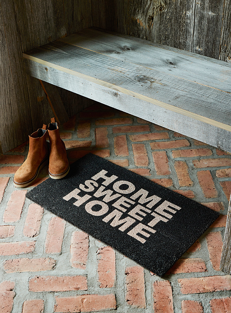 Simons Maison Black Home sweet home door mat  40 x 70 cm