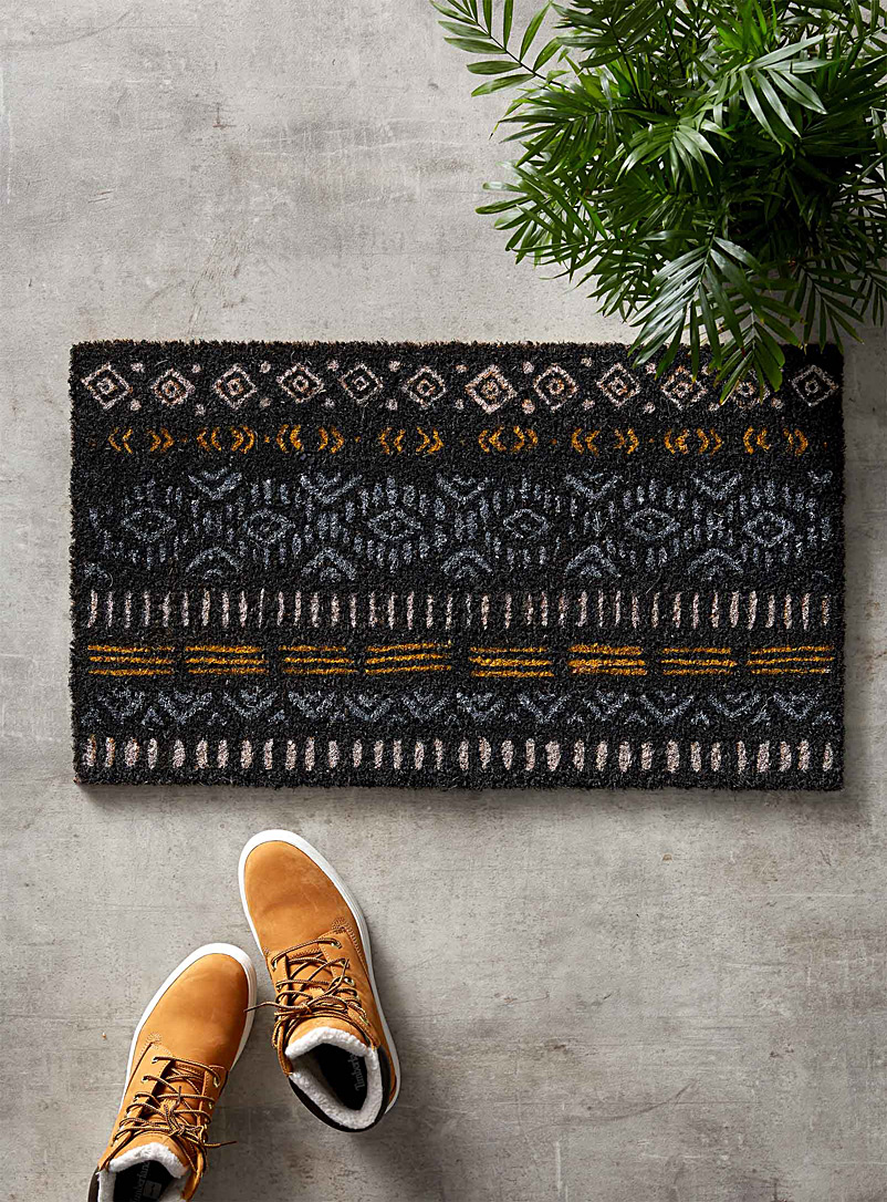 Expression zone door mat  40 x 70 cm - Door Mats & Outdoor Rugs - Patterned Grey