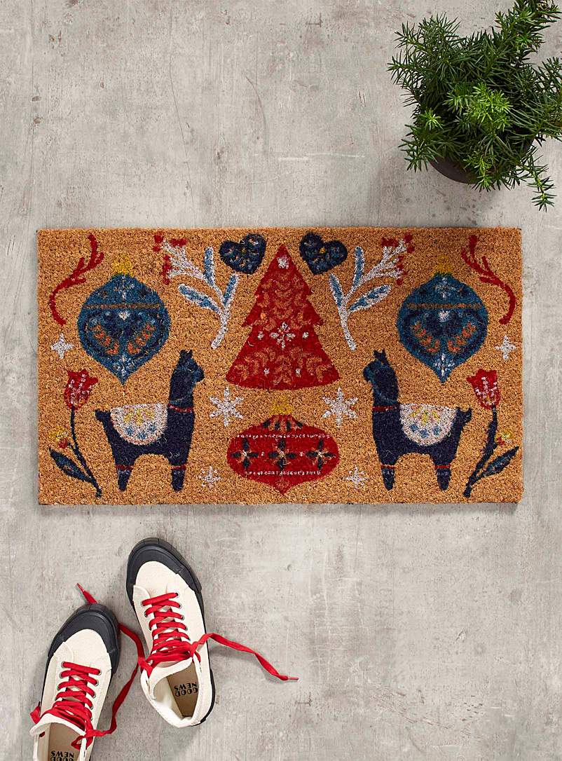 Andean Christmas door mat  40 x 70 cm - Door Mats & Outdoor Rugs - Assorted