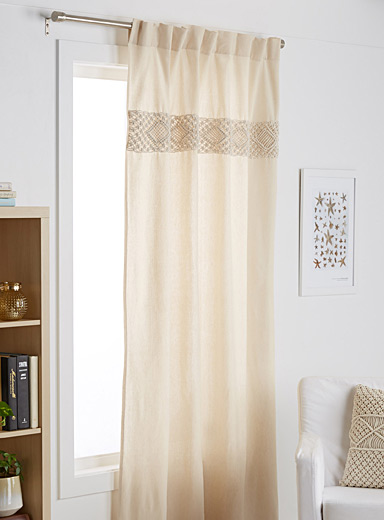 Macrame stripe curtain  54&quote; x 86&quote;