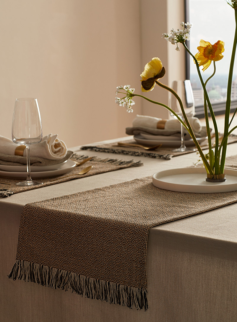 "Jute blend table runner 14"" x 72"""